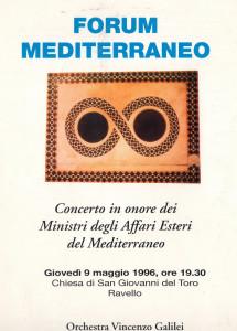 Forum del Mediterraneo, 1996