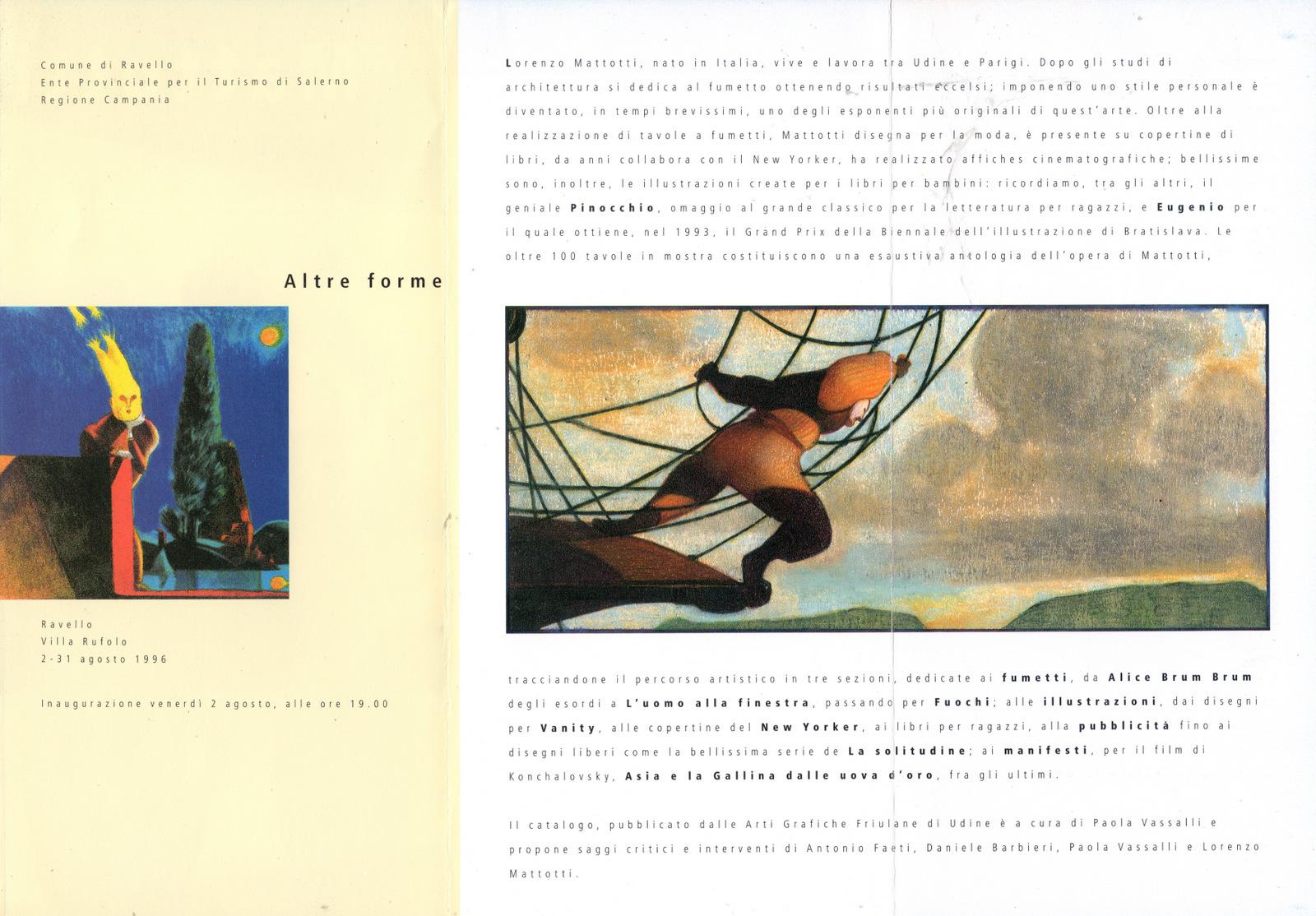 Mostra Lorenzo Mattotti, 1996